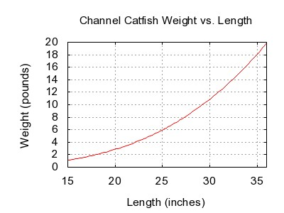 File channel catfish weight length for Fish weight by length chart