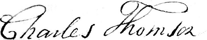 Charles Thomson Signature