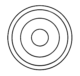 line art example of concentric.