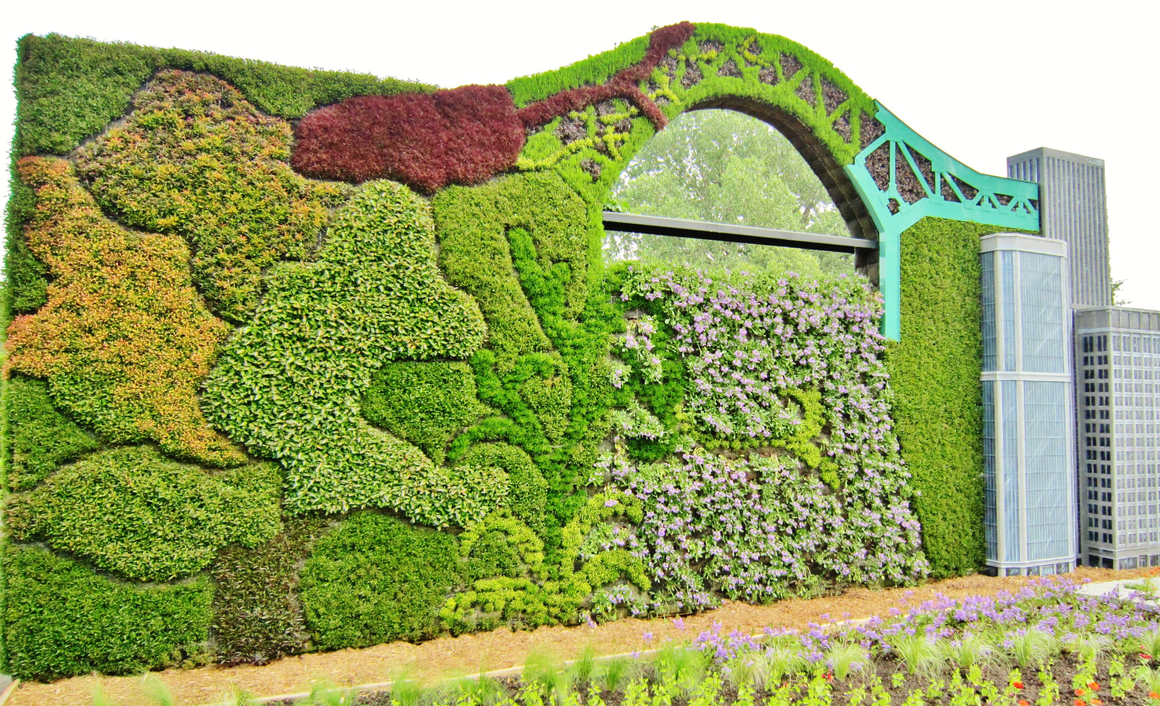 File:Construction Du0027un Mur En Mosaïculture Au Jardin Botanique De Montréal.