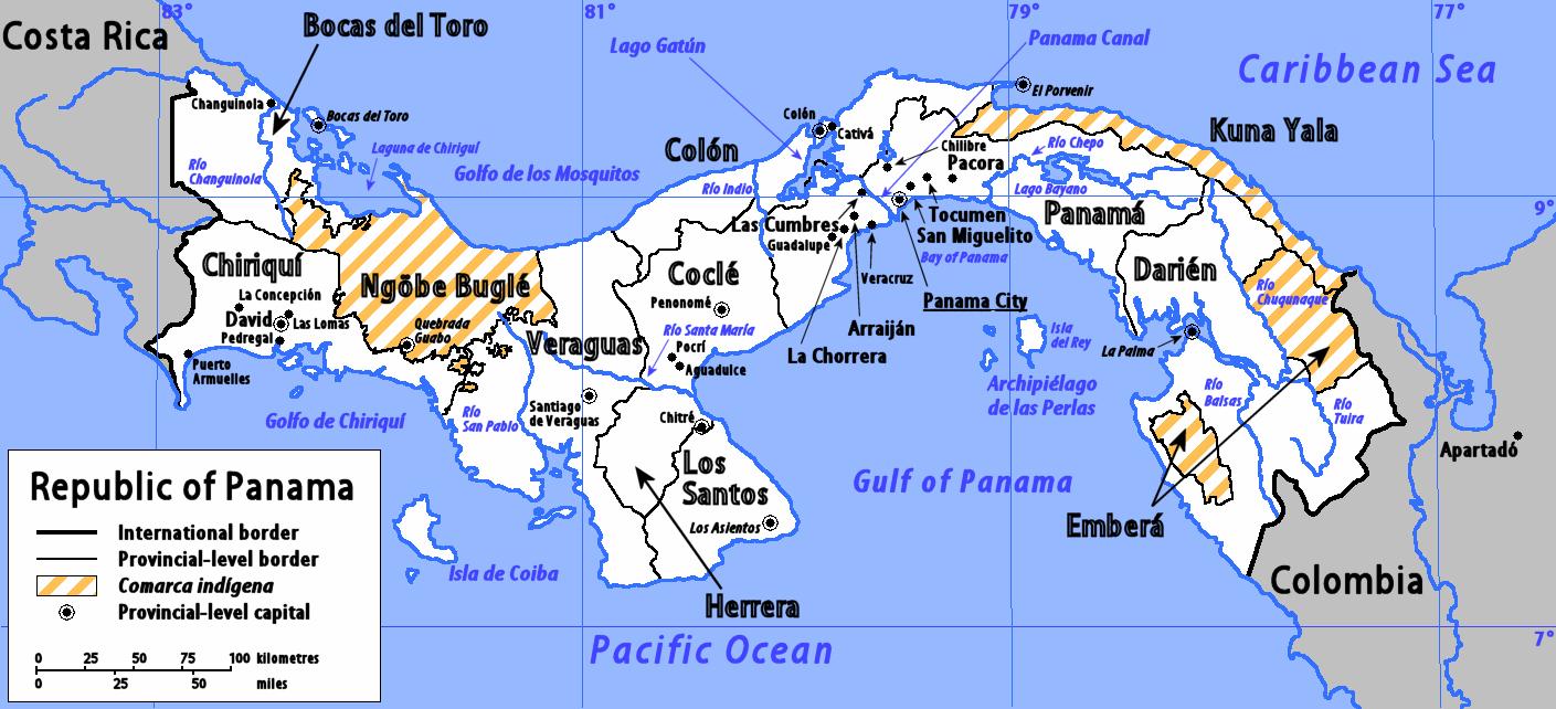 Geography Of Panama Wikipedia
