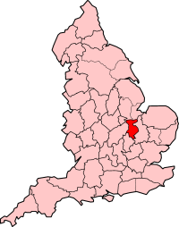 Huntingdon and Peterborough shown within England