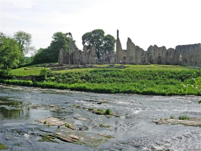 File:Finchale Priory, seen from Finchale Banks (across the River Wear) - geograph.org.uk - 453641.jpg