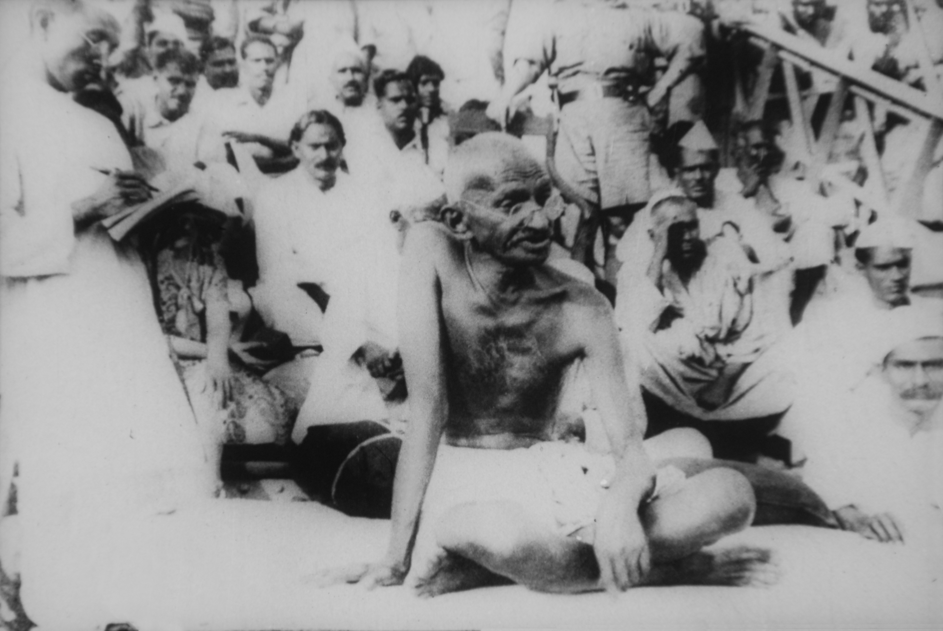 Gandhi visits after the earthquake