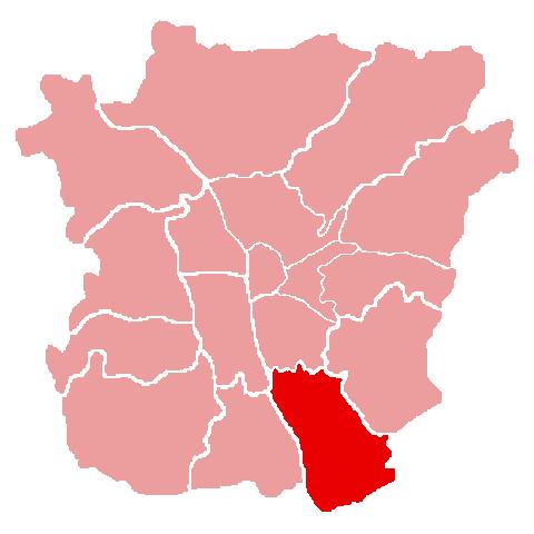 Lage des Bezirks Liebenau