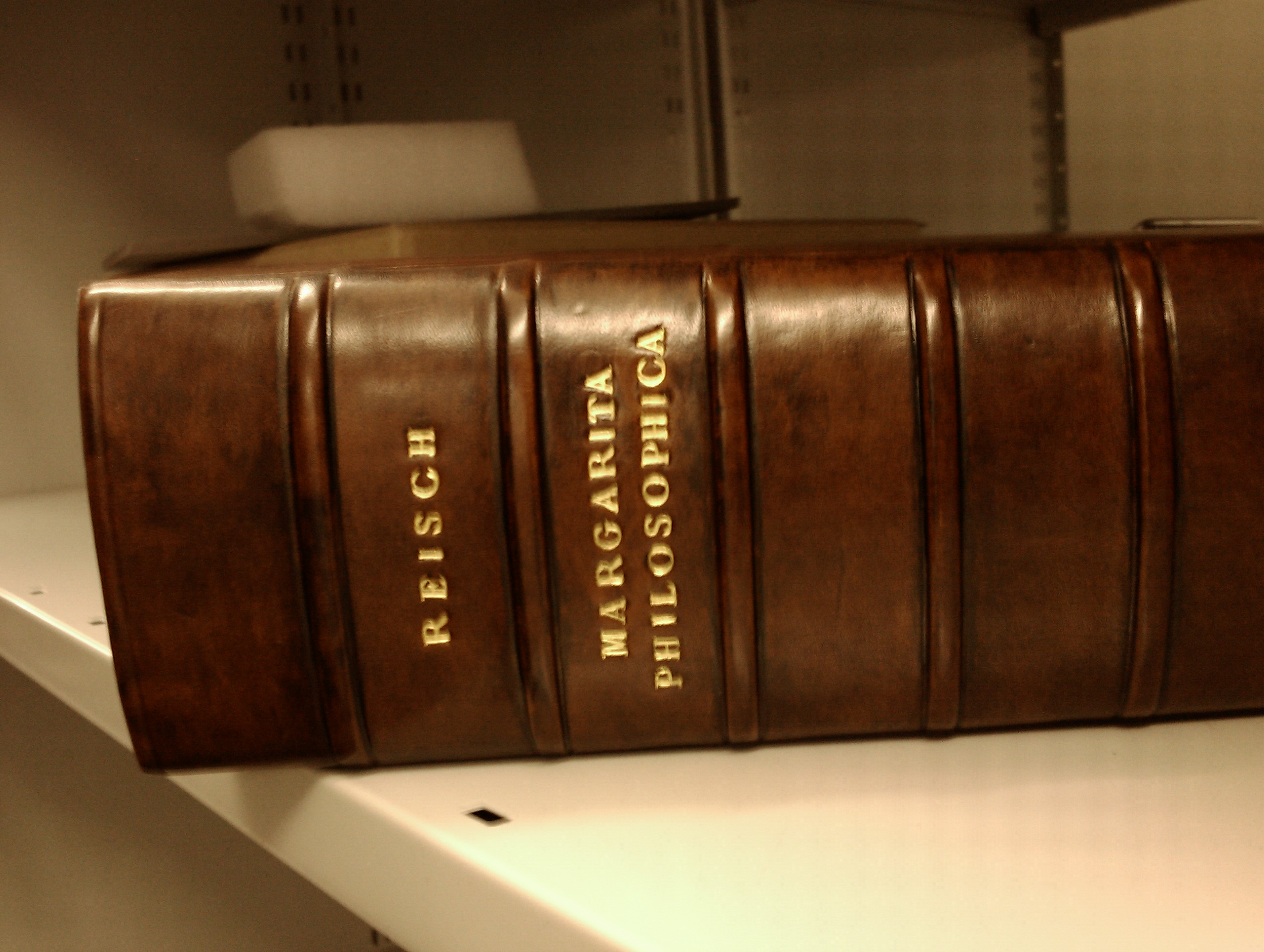Reisch's book in the [[Science Museum at Wroughton
