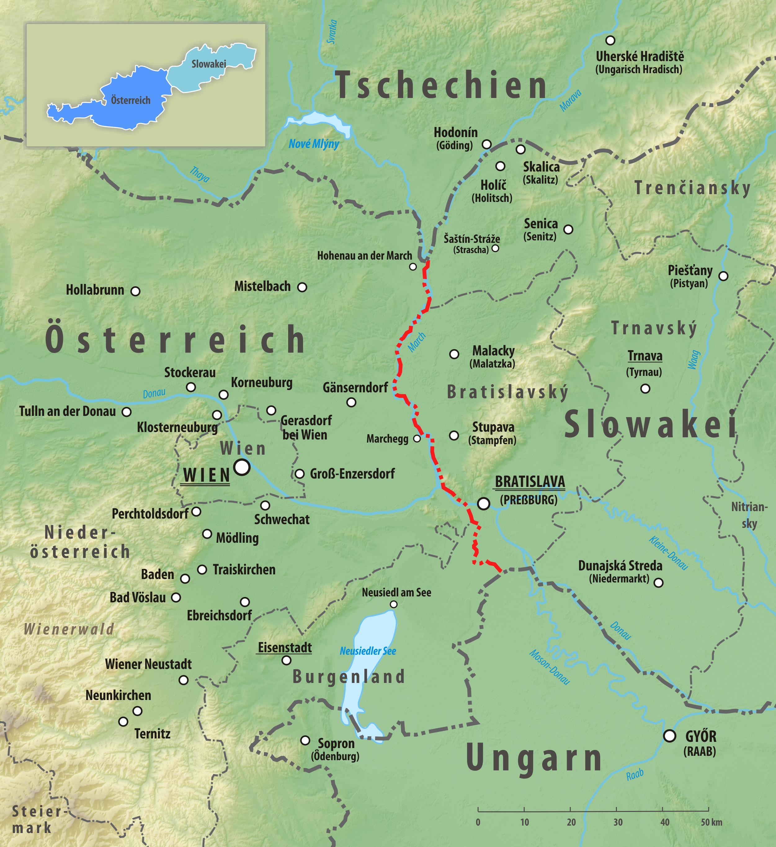 Grenze Zwischen Osterreich Und Der Slowakei Wikipedia