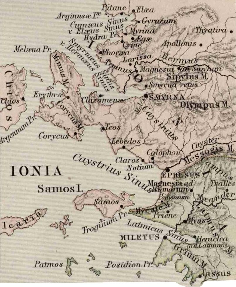 Priene Turkey Map