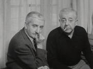 Jacques Prévert (a derecha) con su hermano Pierre (1961).