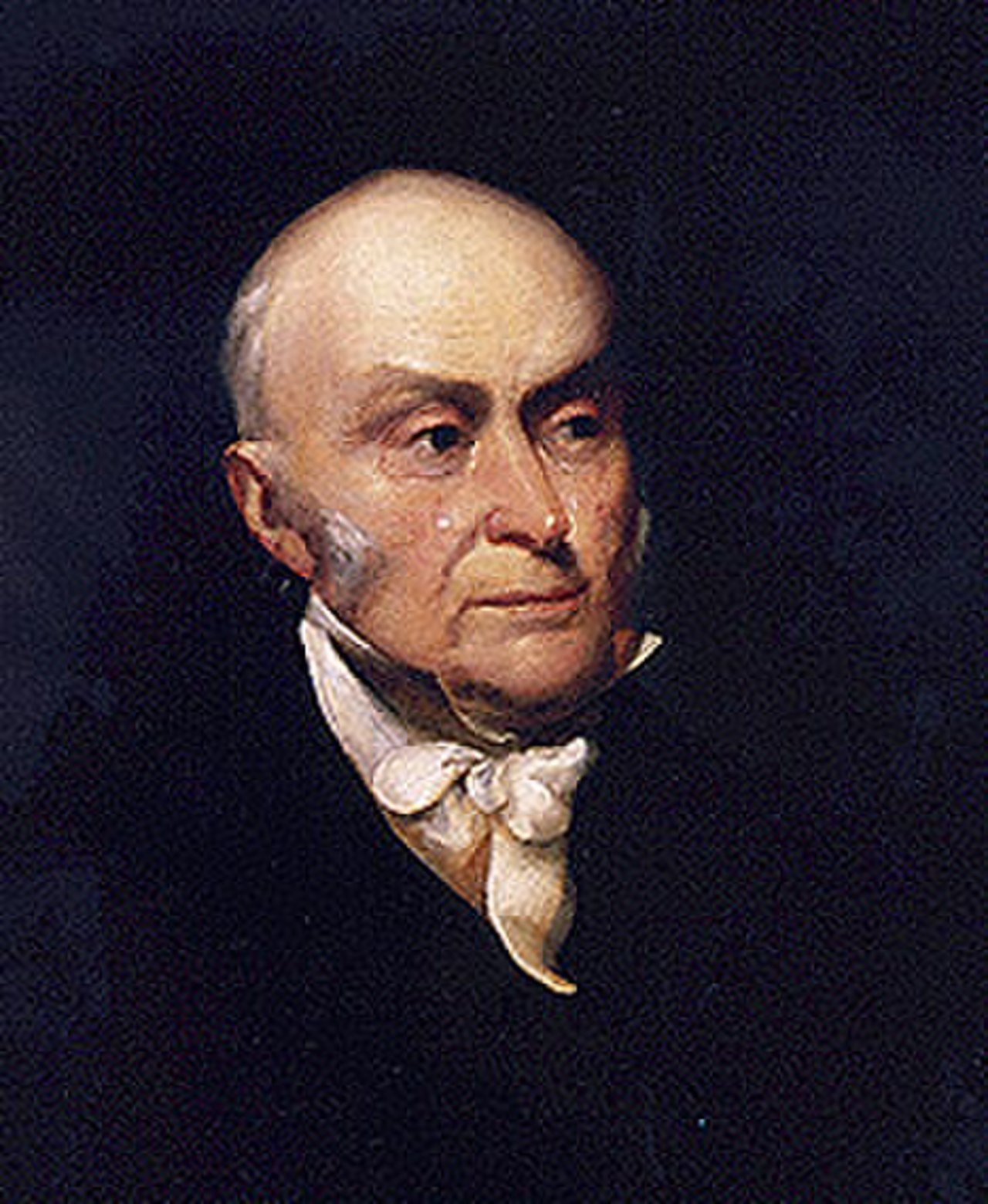 John Quincy Adams, who as U.S. Secretary of State compared Cuba to an apple that, if severed from Spain, would gravitate towards the U.S. John Quincy Adams.jpg