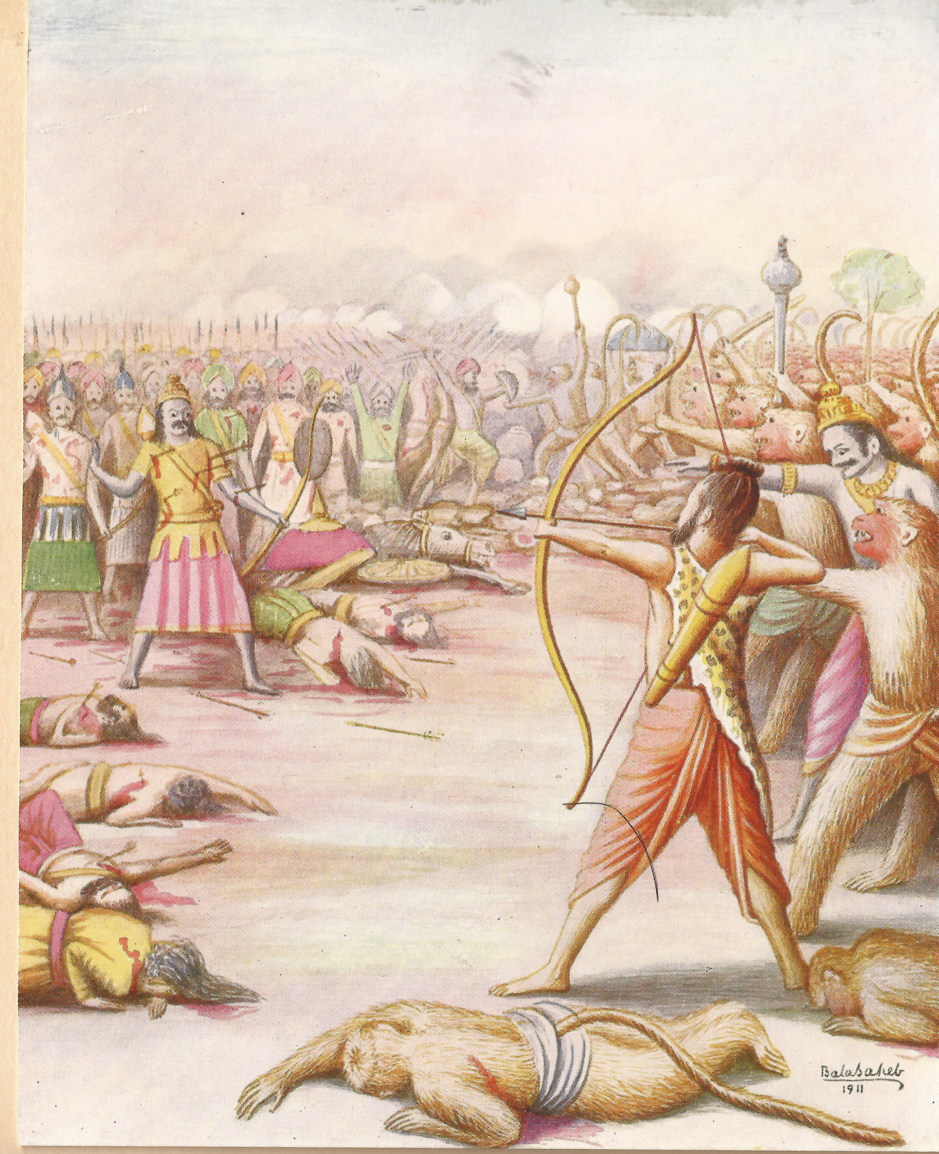 https://upload.wikimedia.org/wikipedia/commons/6/64/Killing_of_Indrajit_Painting_by_Balasaheb_Pant_Pratinidhi.jpg