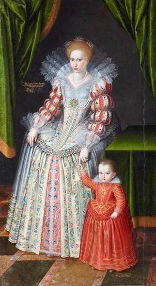 Datei:Kurfürstin Magdalene Sibylle von Sachsen mit ihrem Sohn Christian von Sachsen-Merseburg.jpg