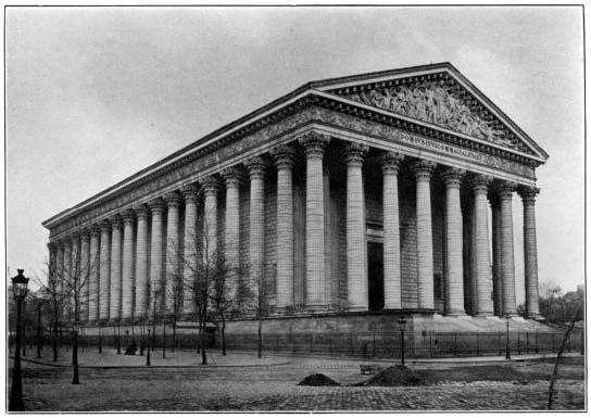 Iglesia de la Madeleine (alrededor de 1900), donde tocó el órgano (1857-1877).