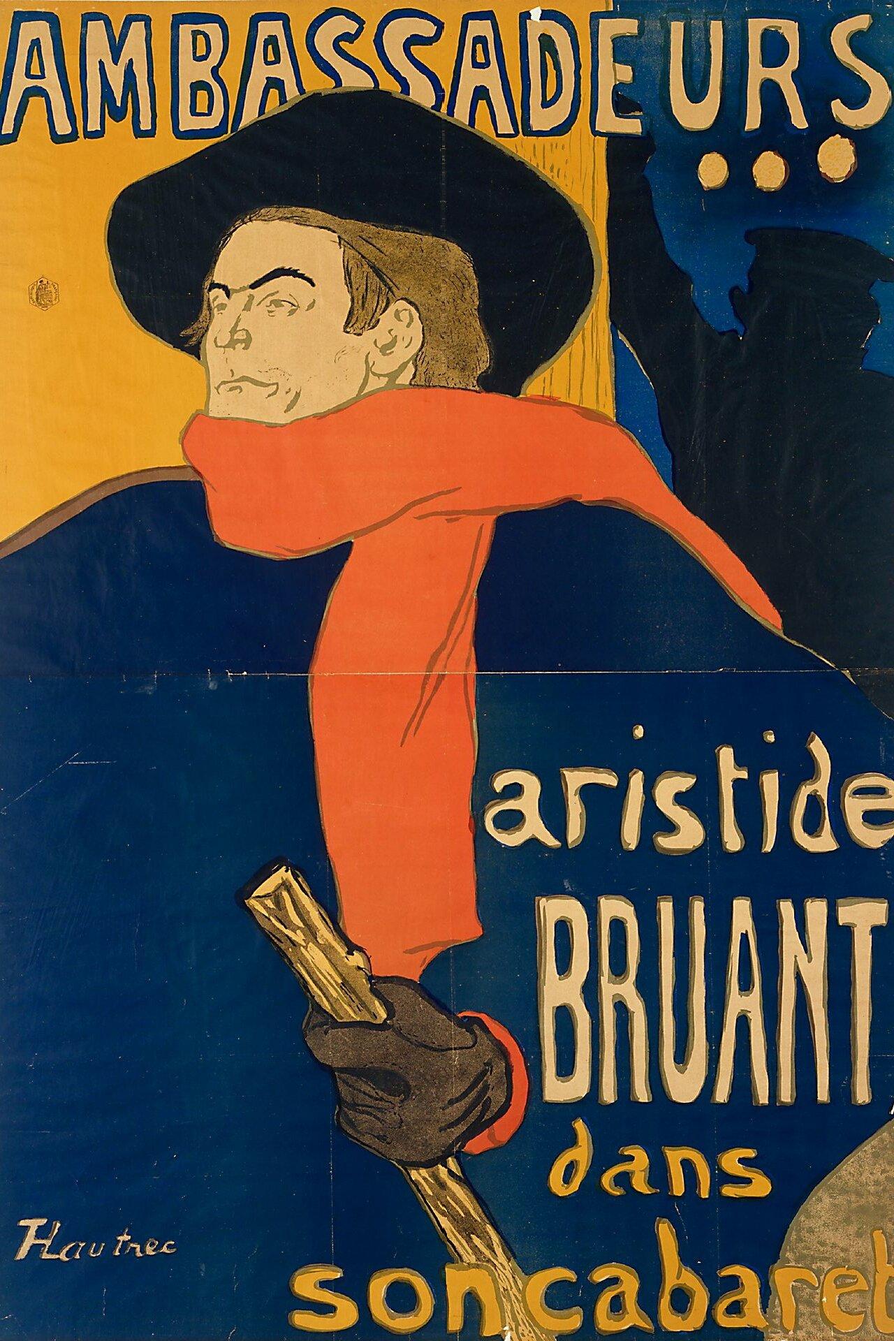 grandes variétés performance fiable super pas cher se compare à Fichier:Lautrec Ambassadeurs Aristide Bruant.jpg — Wikipédia