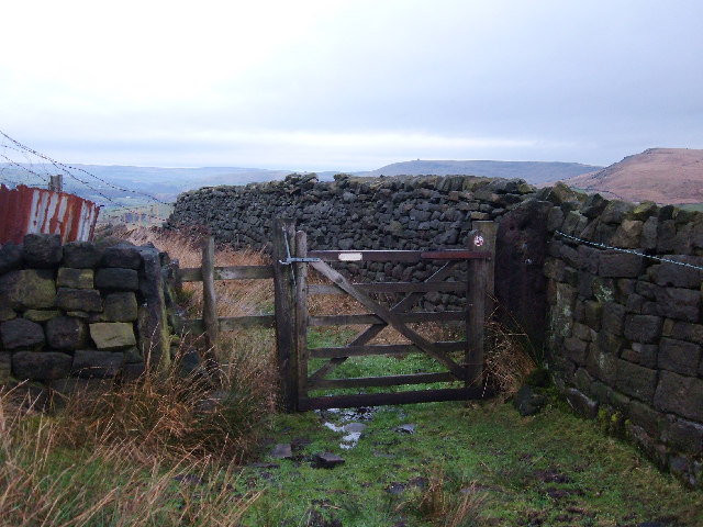 Leaving The Moor This Gate Leads Off Inchfield Moor Down