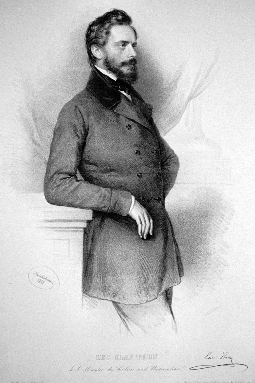 Leopold, Graf von Thun und Hohenstein, 1850