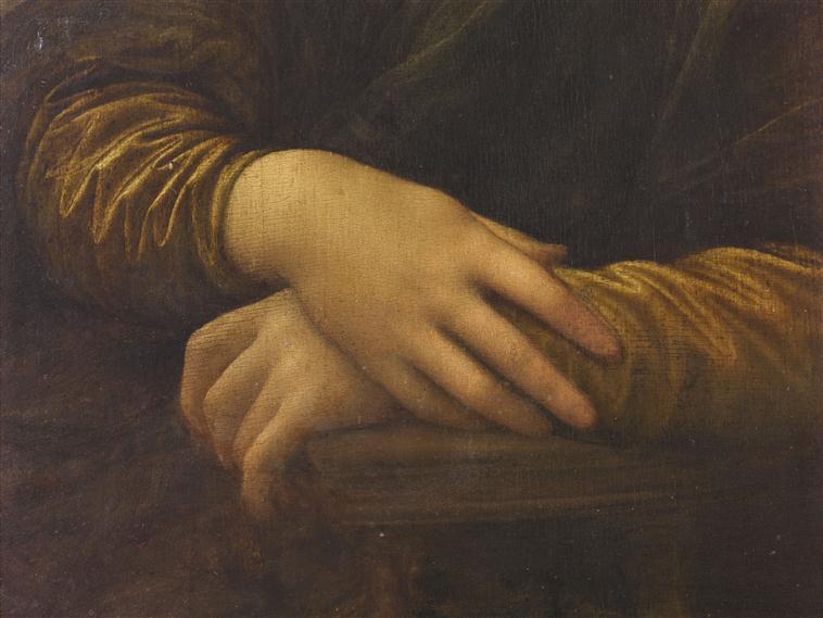Leonardo di ser Piero da Vinci - Portrait de Mona Lisa (dite La Joconde) - Louvre 779 - Detail (hands).jpg