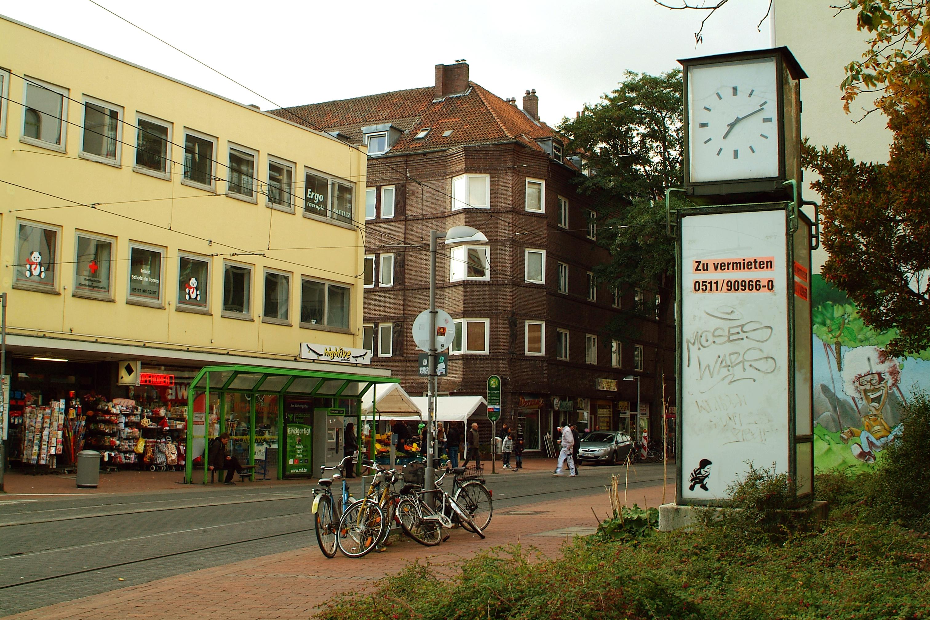File Limmerstrasse Hannover Linden Stadtbahn Haltestelle Kuchengarten