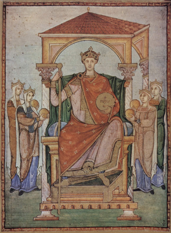 Otto II, Registrum Gregorii, Trier, c. 985, 27 20 cm, Mus e Cond , Chantilly.