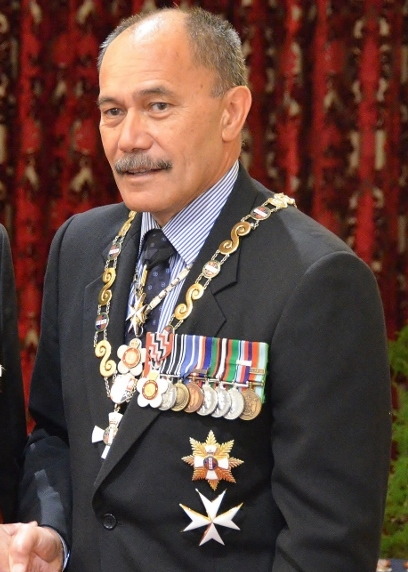 Mateparae wearing his medals Murray Brennan GNZM investiture (Mateparae cropped).jpg