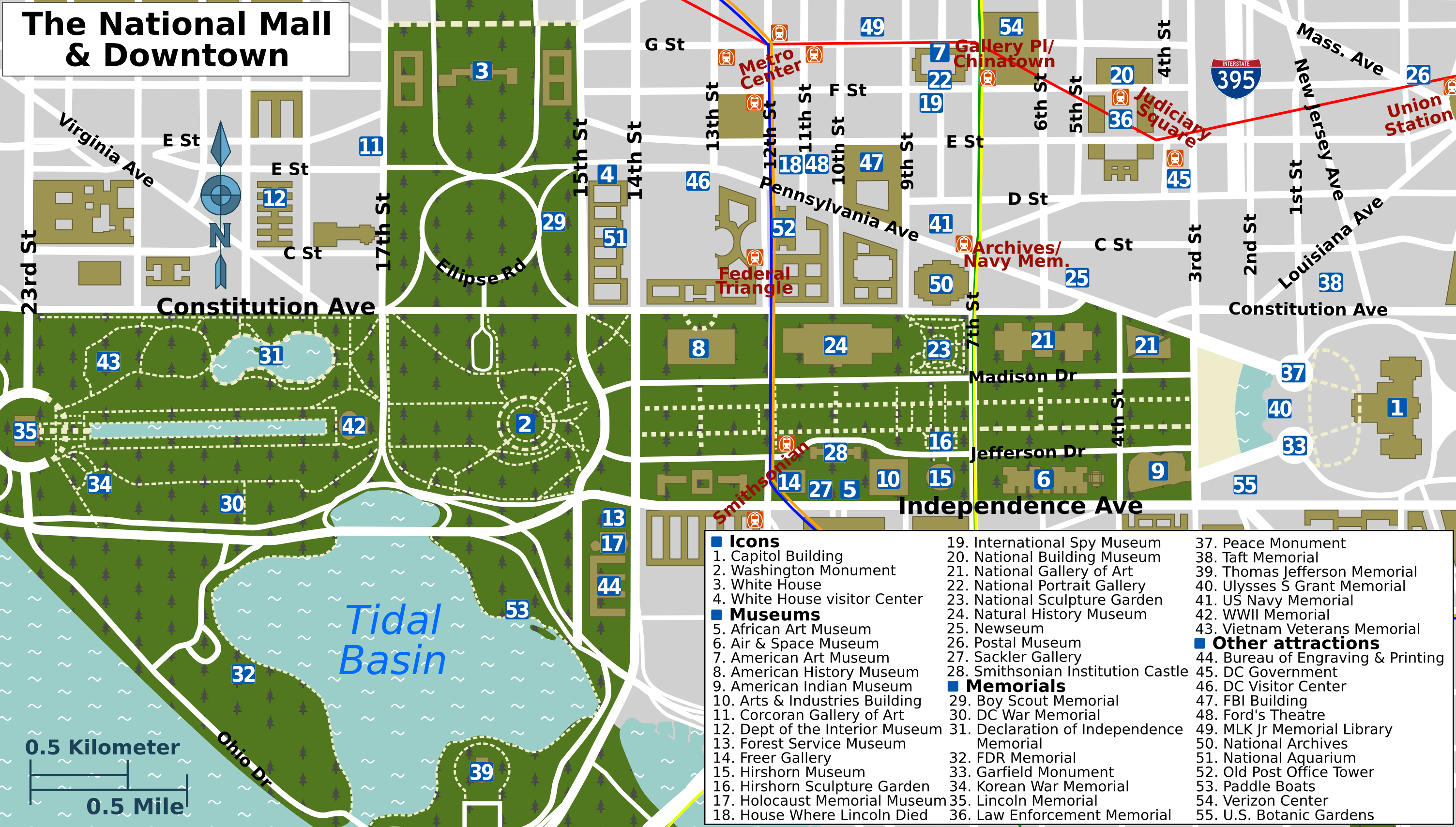 File:National Mall map.png   Wikimedia Commons