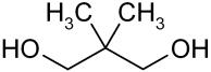 Strukturformel von Neopentylglycol