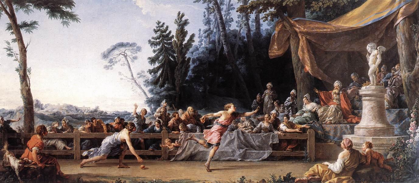 Noël Hallé - La course d'Hippomène et d'Atalante