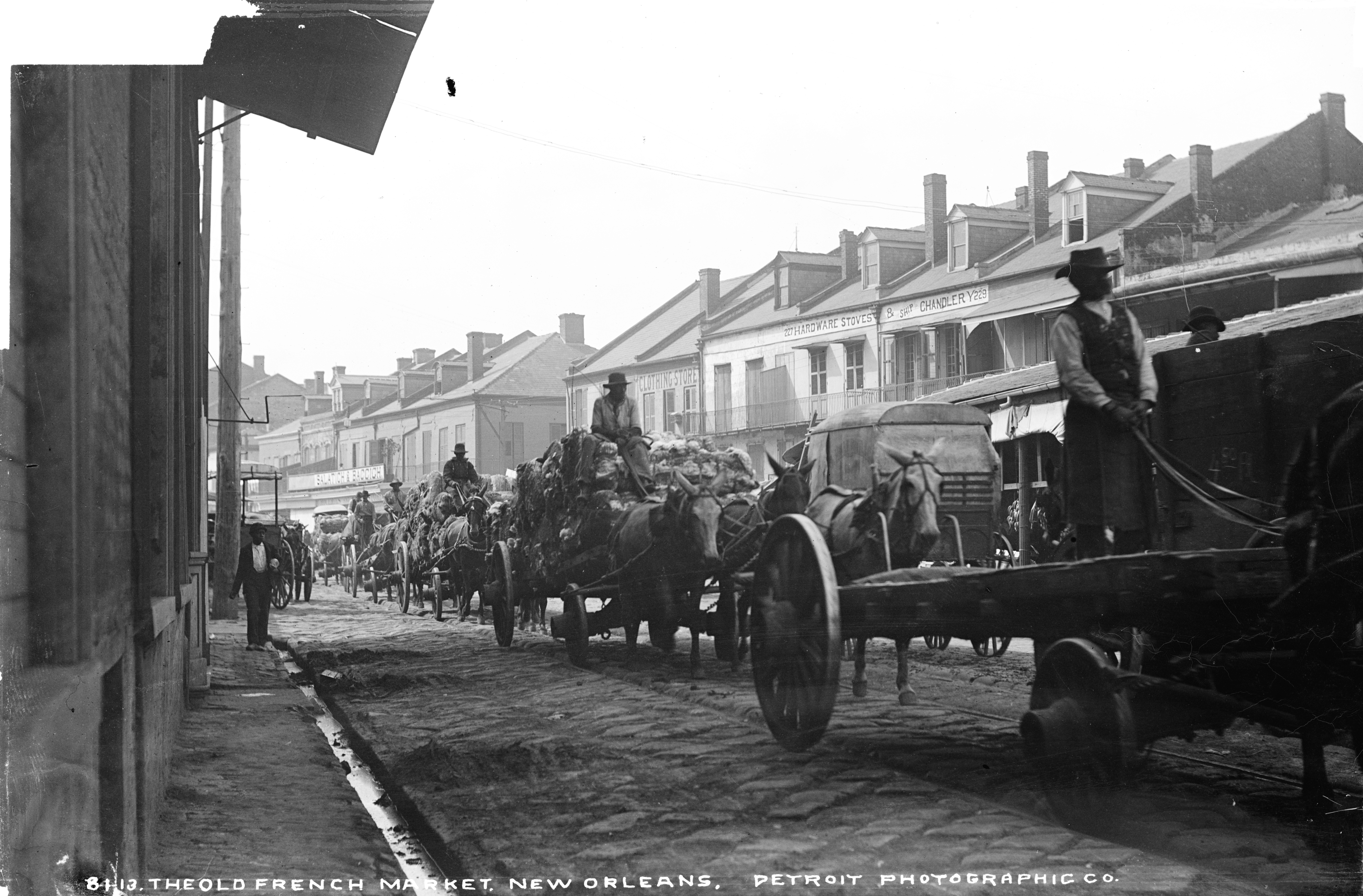 File:Old French Market New Orleans Wagons W H Jackson.jpg - Wikimedia ...