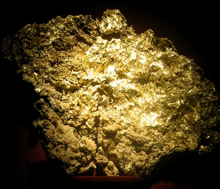 how to say gold ore in french