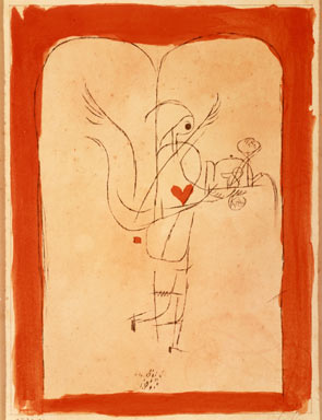 Klee, A Spirit Serves a Small Breakfast, Angel Brings the Desired.jpg