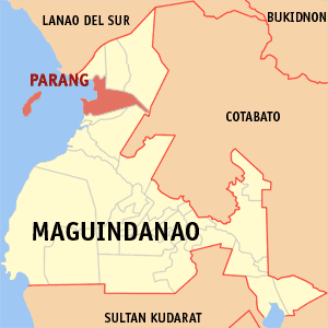 Map of Maguindanao showing the location of Parang