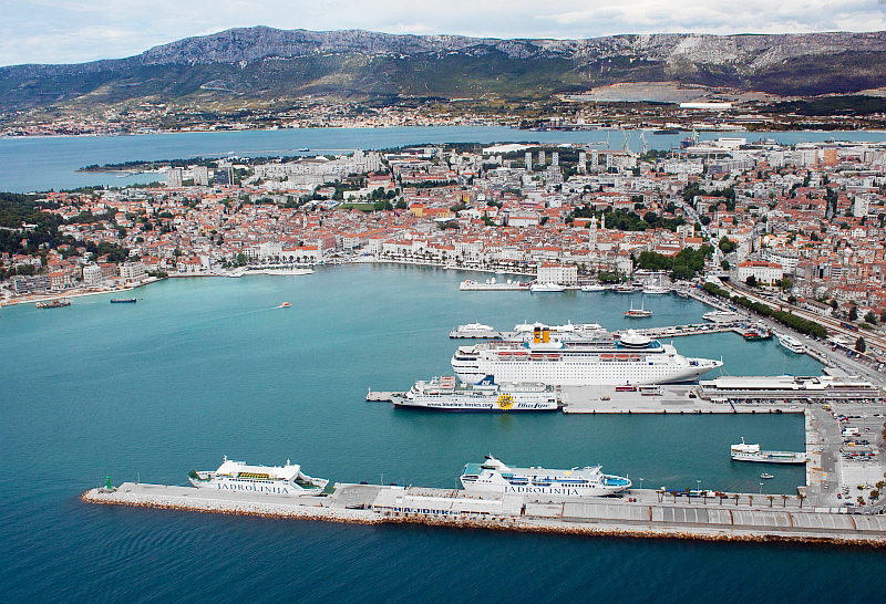 Port of Split from the air 1