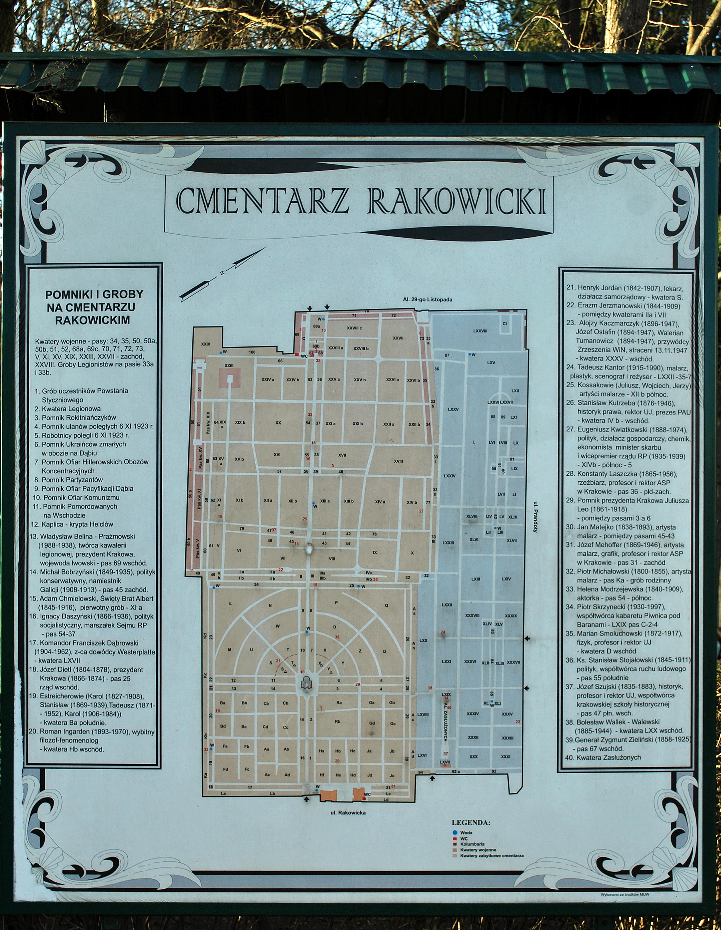 File Rakowice Cemetery Plan 26 Rakowicka Street Krakow Poland
