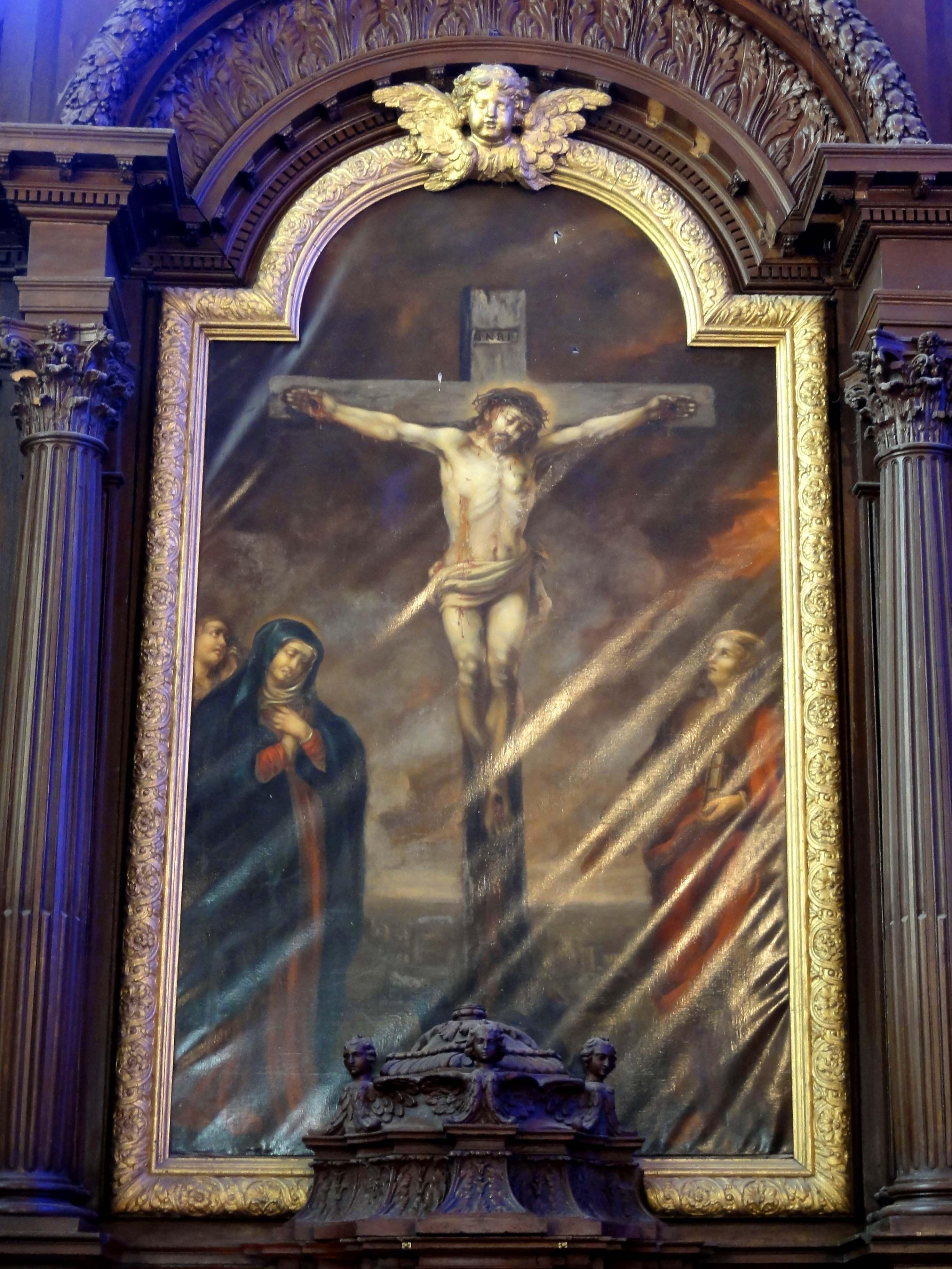 fichier saint prix 95 glise saint prix retable du ma tre autel tableau de retable christ. Black Bedroom Furniture Sets. Home Design Ideas