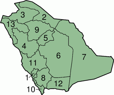 Provincies in Saoedi-Arabië