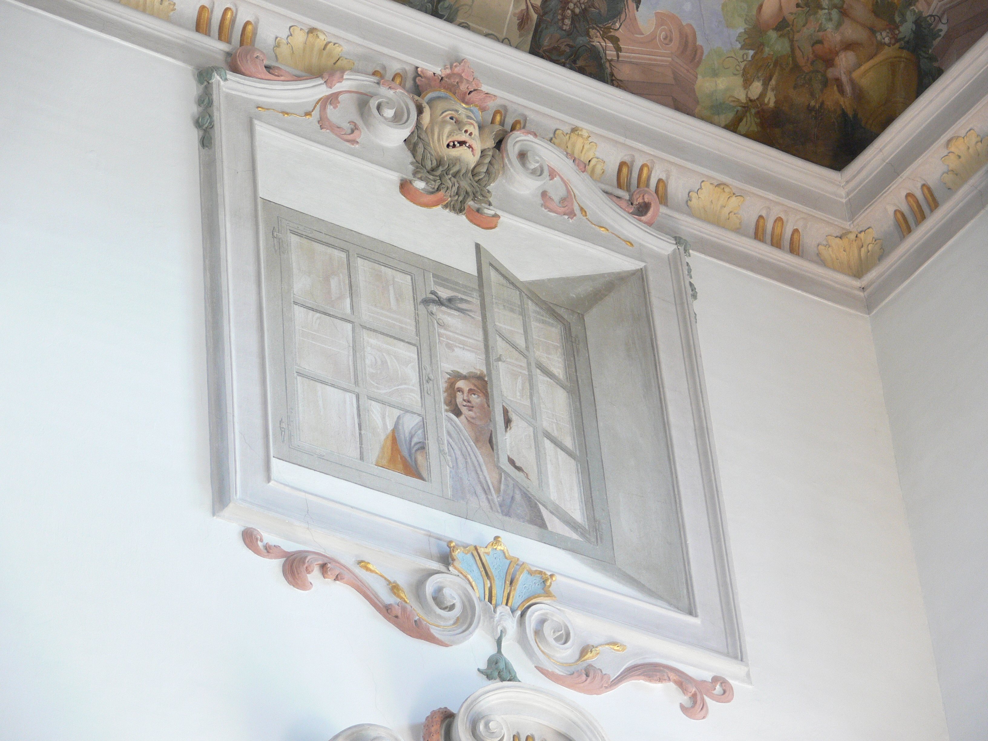 Fenster Bad Wurzach : Description Schloss Wurzach Treppenhaus Fenster Trompeloeil 1jpg
