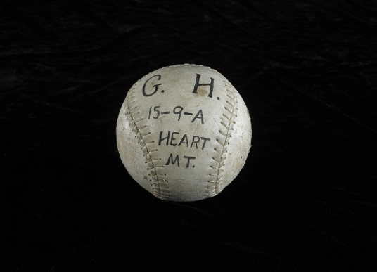 File:Smithsonian photo of softball from Heart Mountain Relocation Center.jpg