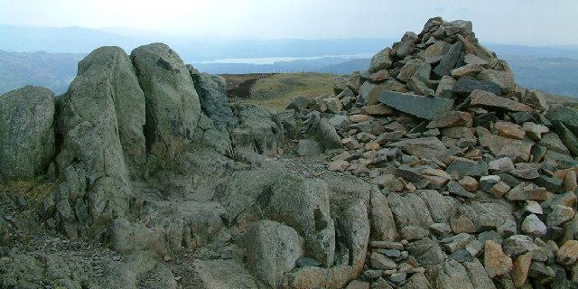 Summit cairn on Lingmoor Fell - geograph.org.uk - 8091