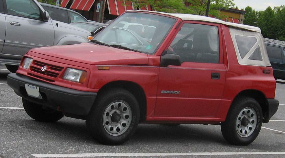 Suzuki Sidekick Rear Seat