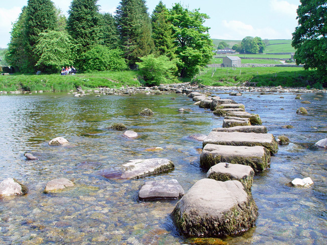 The stepping stones across the Wharfe - geograph.org.uk - 820097