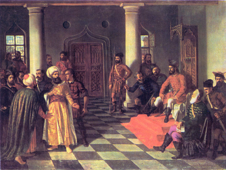 Theodor Aman - Vlad the Impaler and the Turkish Envoys