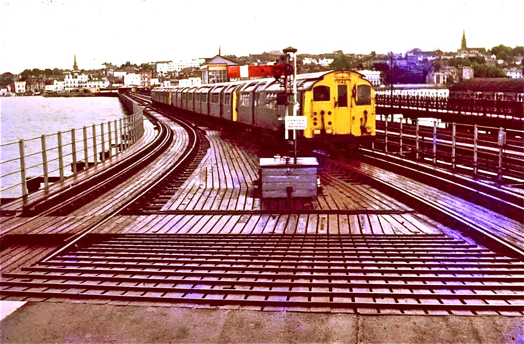 Train approaching Ryde Pier Head station in 1969 - Island Line Jamboree