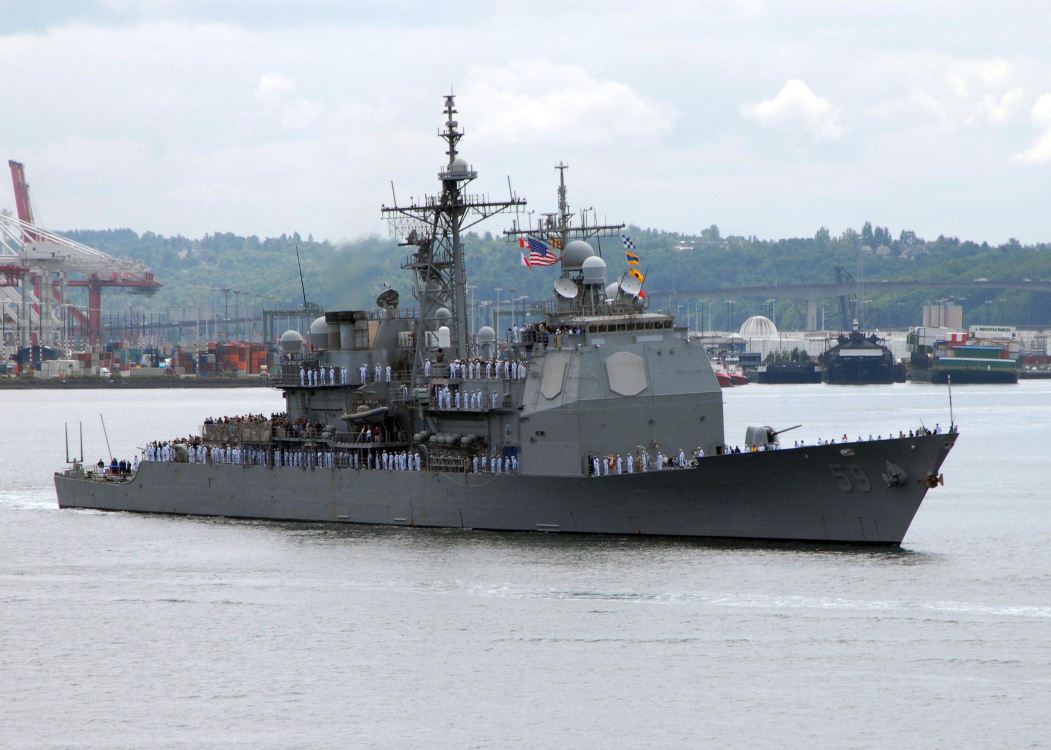 File:US Navy 080730-N-7656R-004 The Ticonderoga class ... Navy Cruiser Ships