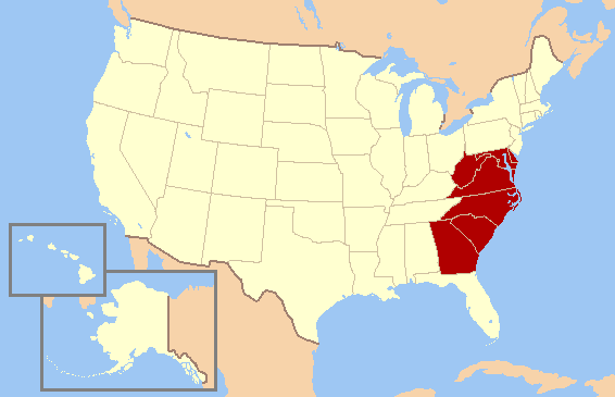 Where does the South begin Which states are South merged
