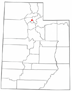 Location of Farmington, Utah