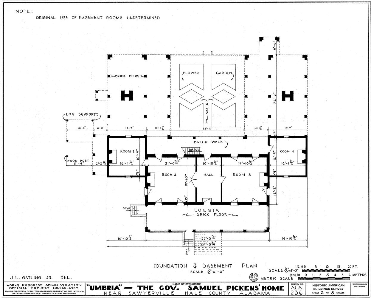 File:Umbria Plantation - Architectural plan of raised basement.png ...
