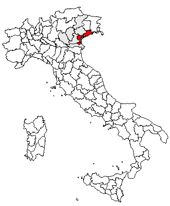Kaart met ligging provincie