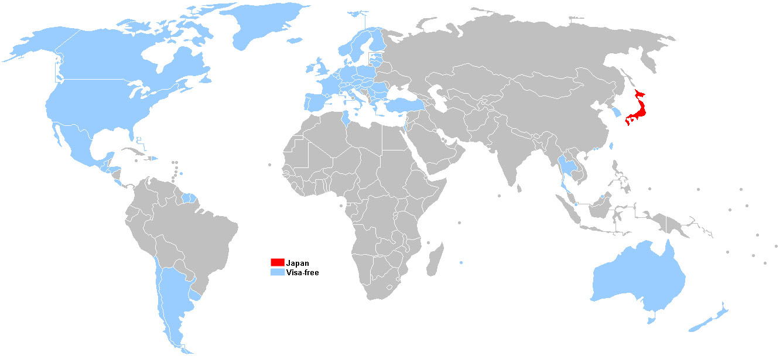 FileVisa Policy Of Japanjpg Wikimedia Commons - Japan visa map