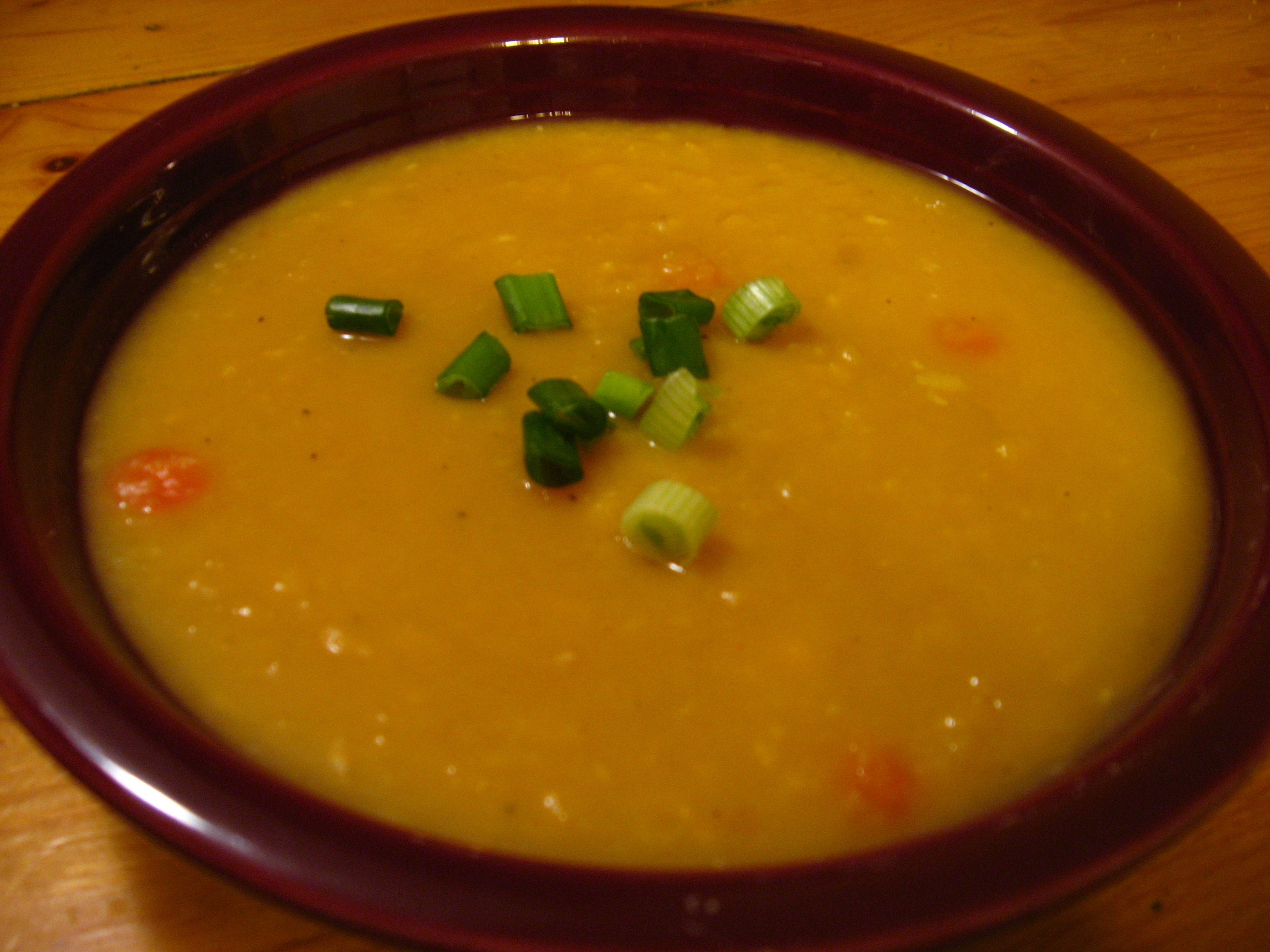 Sweet Potato Soup Sour Cream