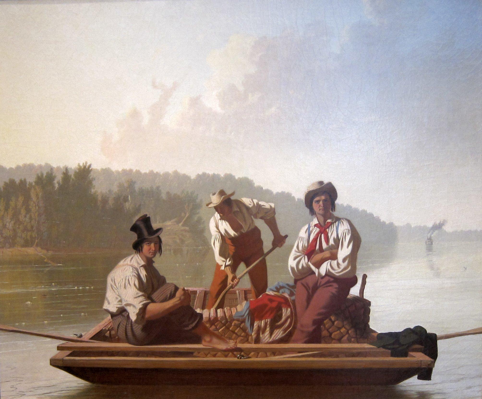 fileboatmen on the missouri by george caleb bingham de